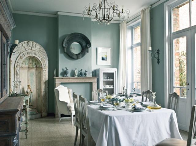 La salle à manger : Les tissus se mettent à table Salle_10