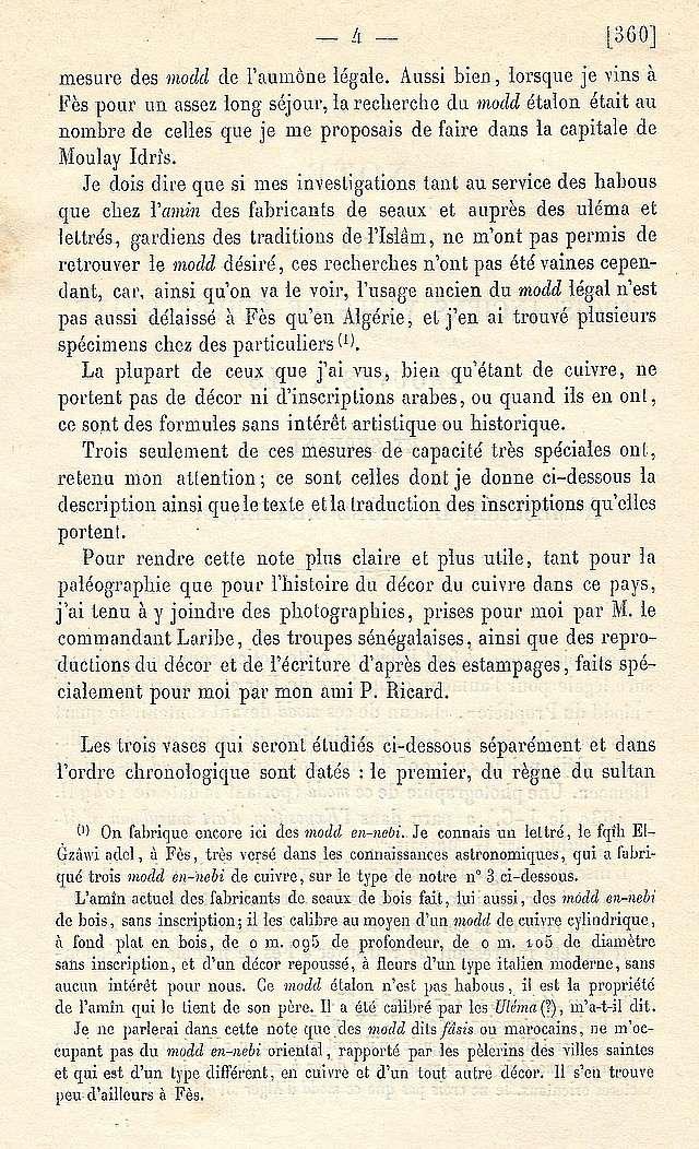 Alfred BEL : Note sur trois anciens vases de cuivre gravé trouvés à Fès et servant à mesurer l'aumône légale du fitr. Scan_b15