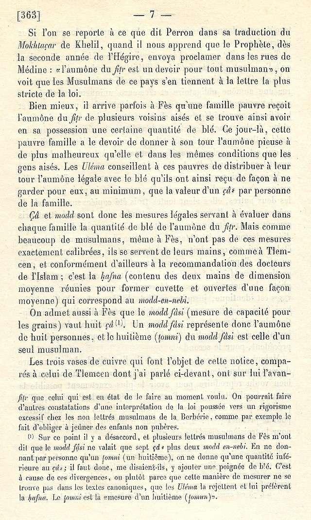 Alfred BEL : Note sur trois anciens vases de cuivre gravé trouvés à Fès et servant à mesurer l'aumône légale du fitr. Scan_b22