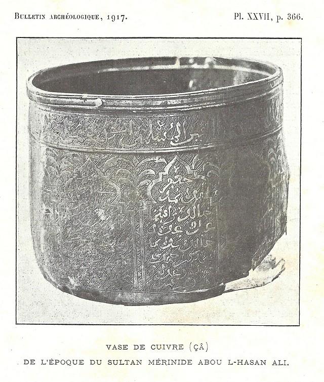 Alfred BEL : Note sur trois anciens vases de cuivre gravé trouvés à Fès et servant à mesurer l'aumône légale du fitr. Scan_b27
