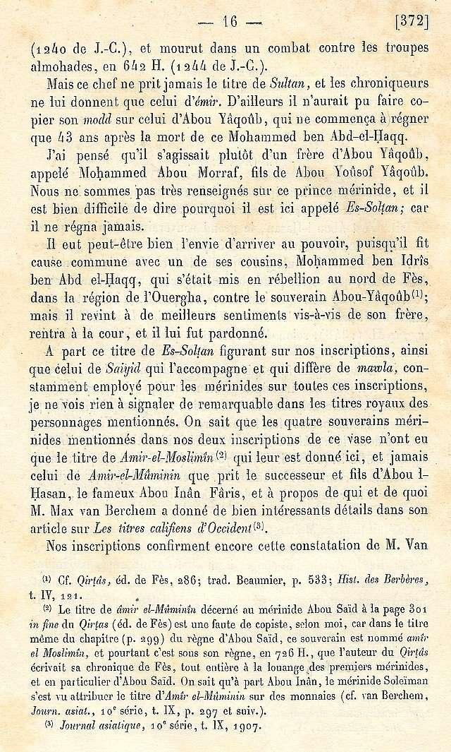 Alfred BEL : Note sur trois anciens vases de cuivre gravé trouvés à Fès et servant à mesurer l'aumône légale du fitr. Scan_b35