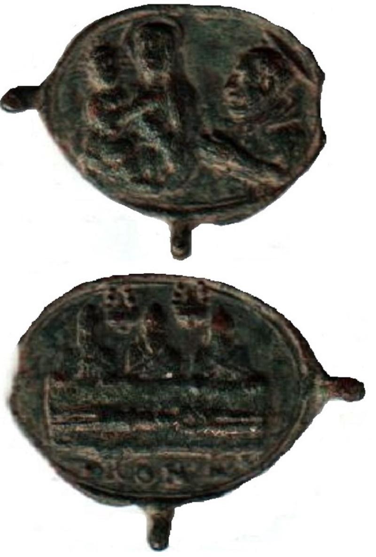 Jolie petite médaille - St Charles Borromée en prière devant ND de Mondovi - XVIIème A291011