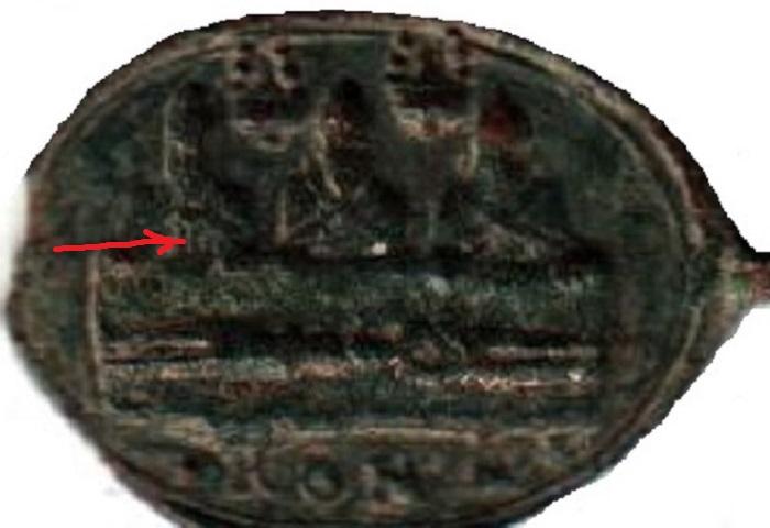 Jolie petite médaille - St Charles Borromée en prière devant ND de Mondovi - XVIIème A2910110