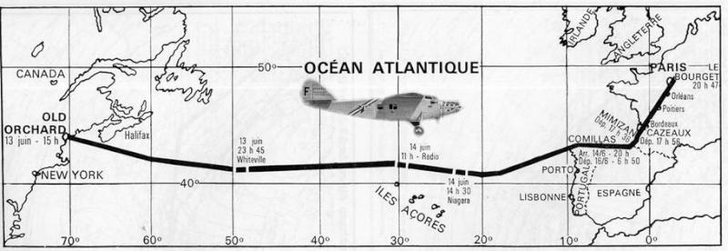Première traversée Francaise de l'atlantique nord en avion Cana310