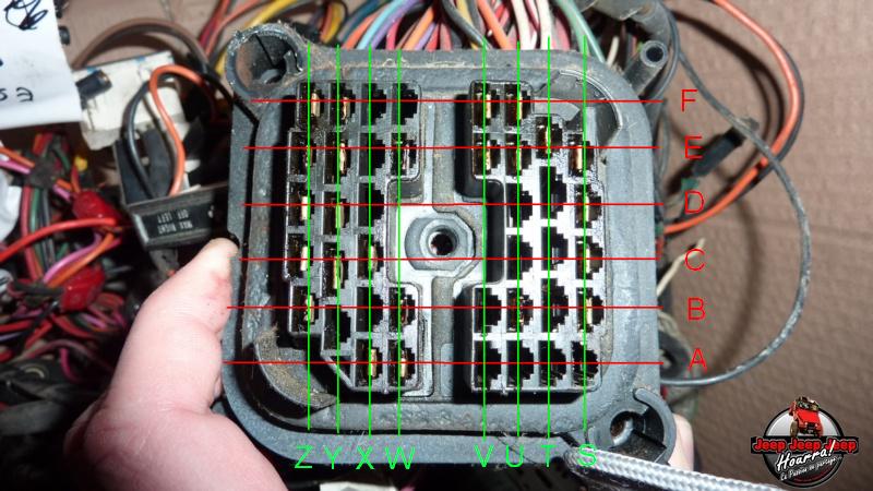 Maïté est branchée (connecteur cloison parefeu CJ7 Diesel) P1060922