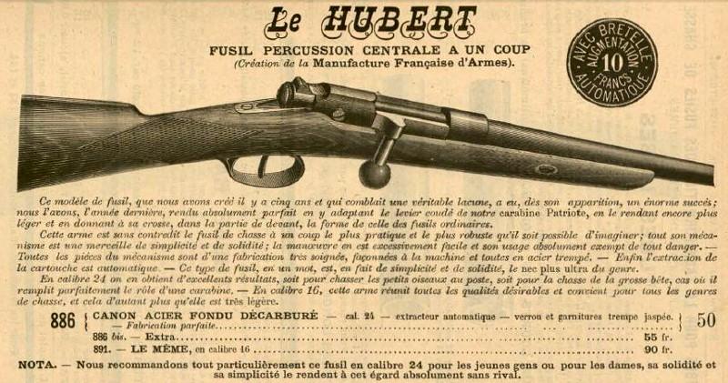 Extracteur fusil Le Hubert St Etienne (version du commerce du Gras) 189010