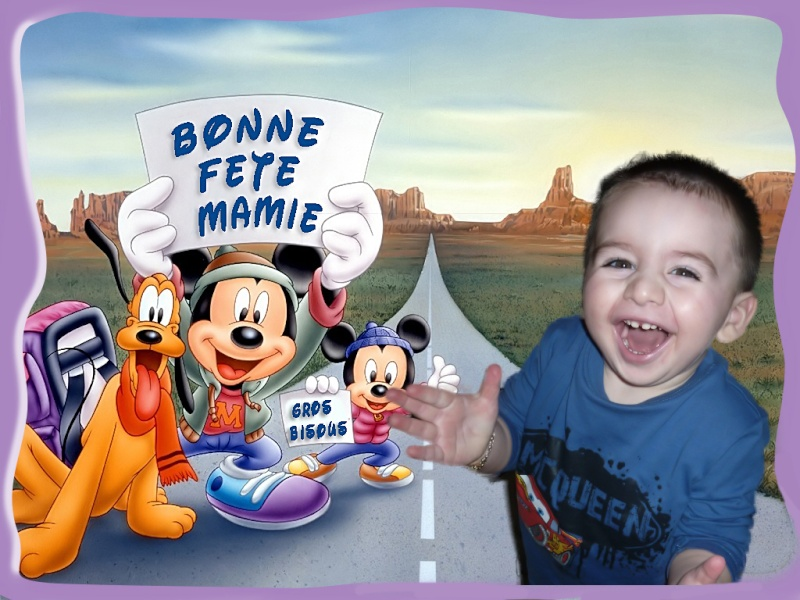 Bonjour Alain ( Fete des Grands Mere) Mickey13