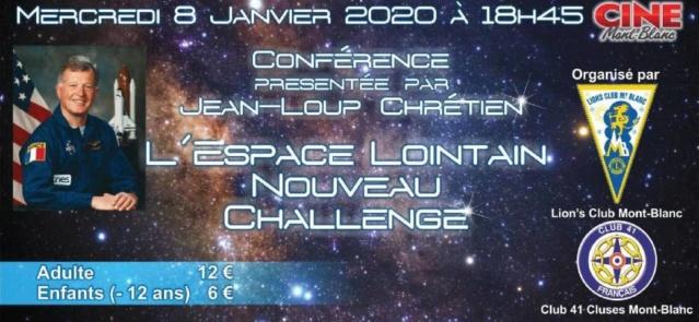 Jean-Loup CHRETIEN à Sallanches (Haute-Savoie) le 08/01/20. Confer15