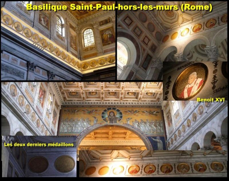 Médaillons des papes: il en reste plusieurs après Benoît XVI 31425610