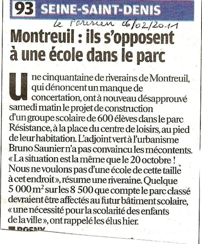 Manque de concertation à Montreuil Numari10