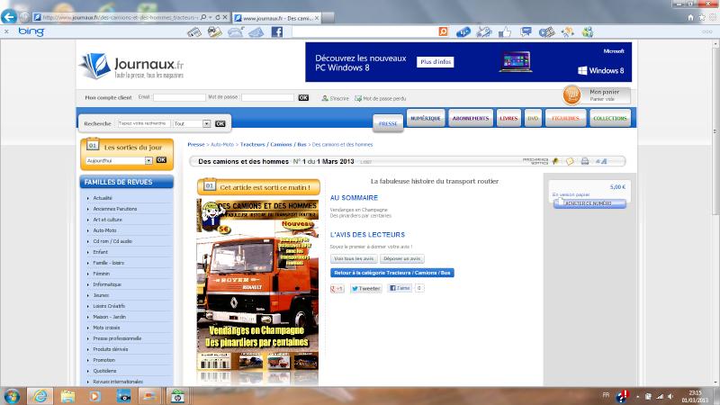 nouveau magazine Des Camions et des Hommes par l'admin du 51 - Page 4 Camion10
