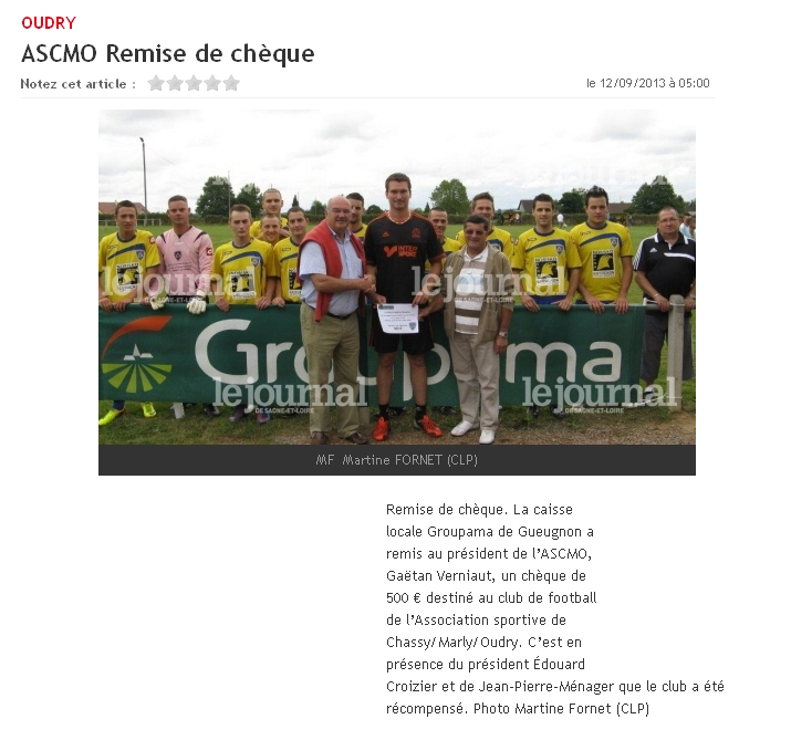 A.S.C.M.O. - Remise de chèque Groupama Ascmo_20