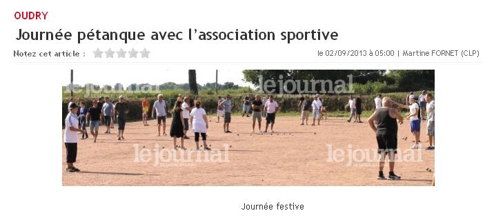 Journée pétanque avec l'association sportive Journa10