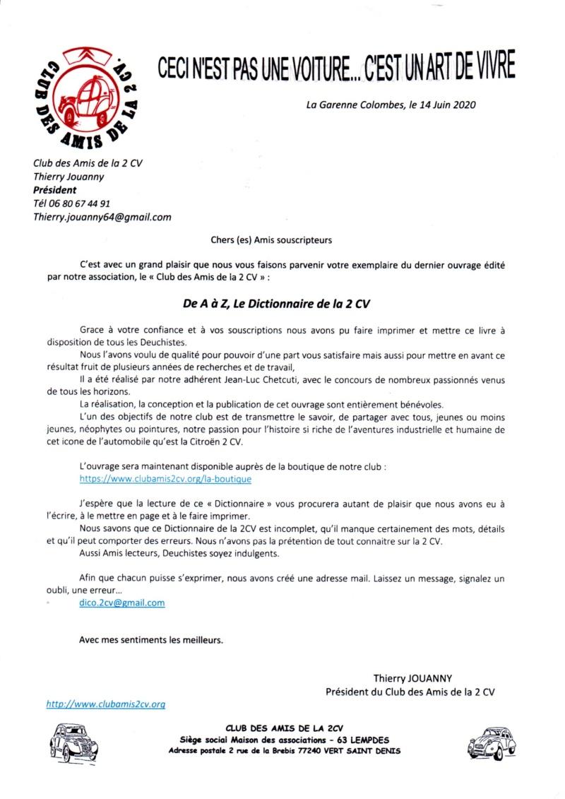 LE DICTIONNAIRE DE LA 2CV TOME 1 de A à Z Img20220