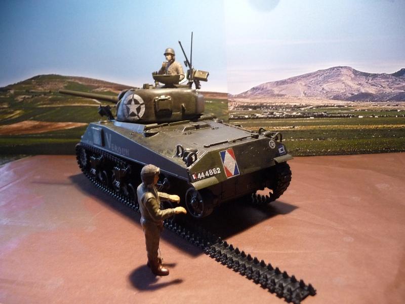 """SHERMAN M4A4  """" VERDUN"""" qui vient de décheniller!... P1040713"""