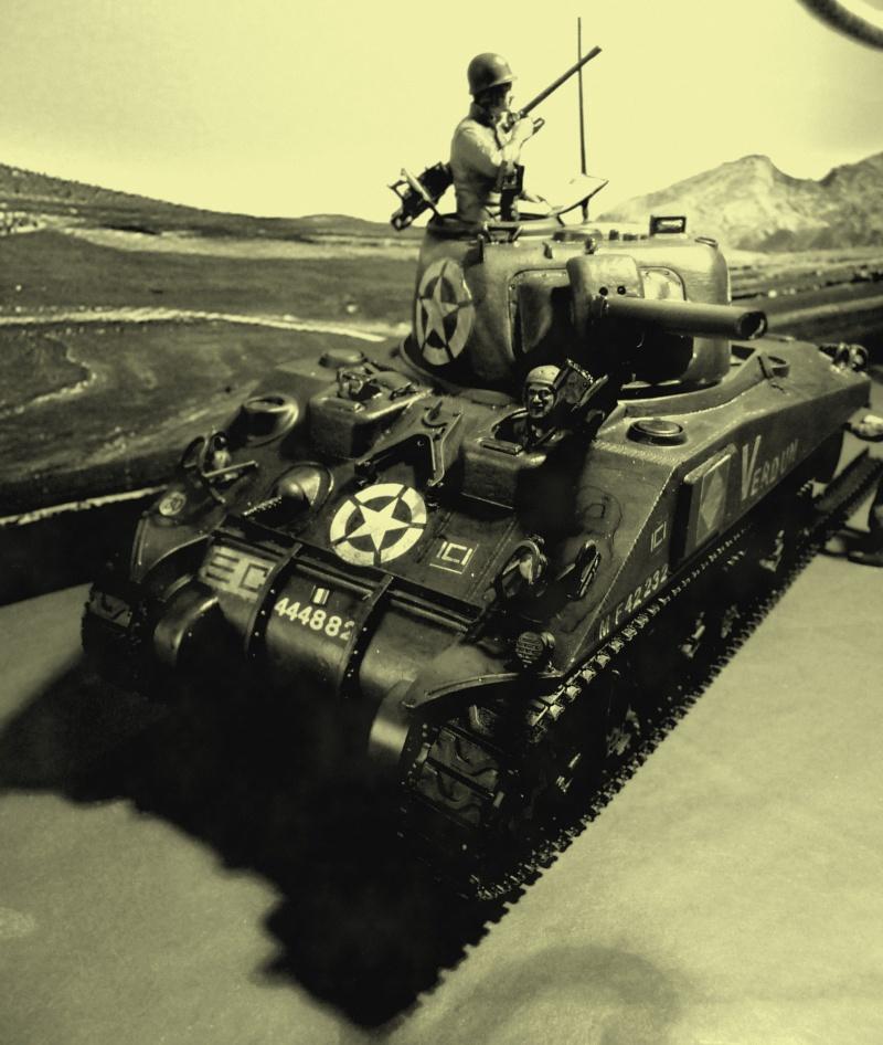 """SHERMAN M4A4  """" VERDUN"""" qui vient de décheniller!... P1040717"""