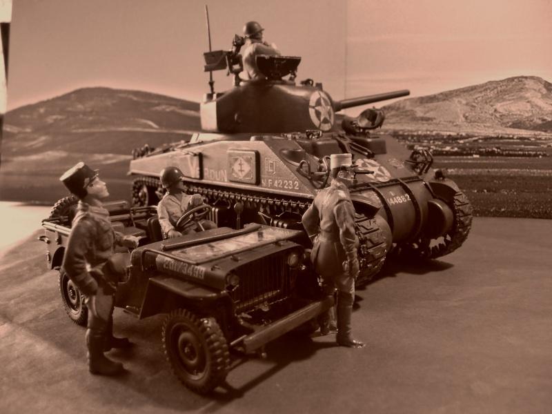 """SHERMAN M4A4  """" VERDUN"""" qui vient de décheniller!... P1040719"""