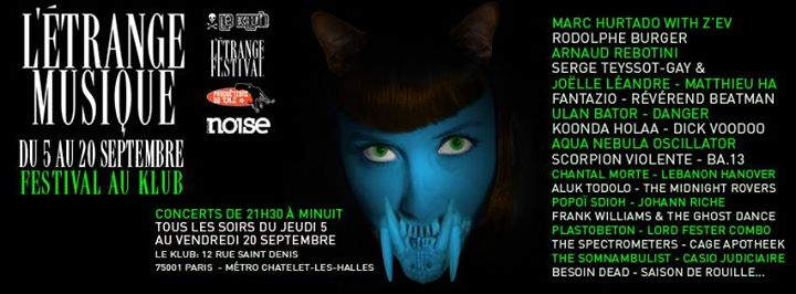 Festival L'Etrange Musique du 05 au 20 Septembre à Paris 31159915