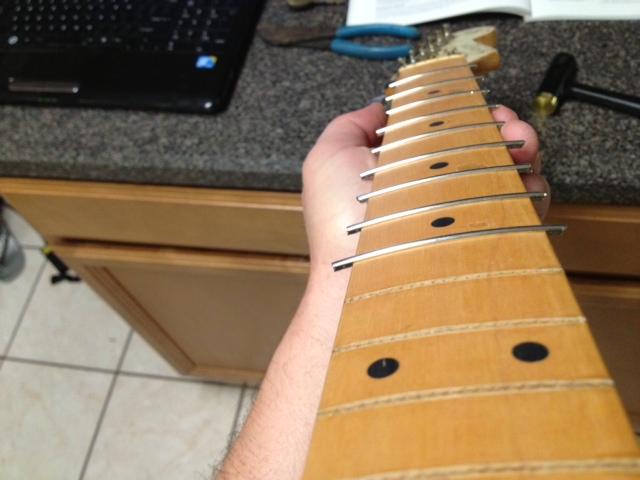 Re-fret of a Pantera (or any Rosewood/Ebony neck) 612