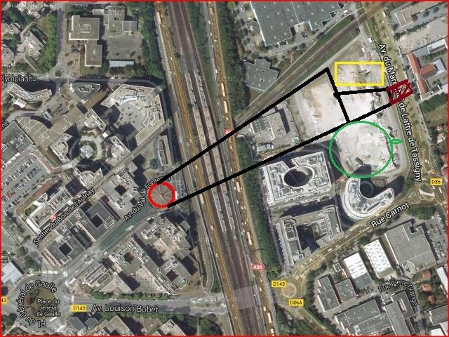 """Pour une liaison mécanisée entre les quais de la RATP et de la SNCF à la Gare Val de Fontenay, pour une liaison enterrée entre l'A86 et l'A4 au lieu-dit """"Le Pont de Nogent"""" Val_de10"""