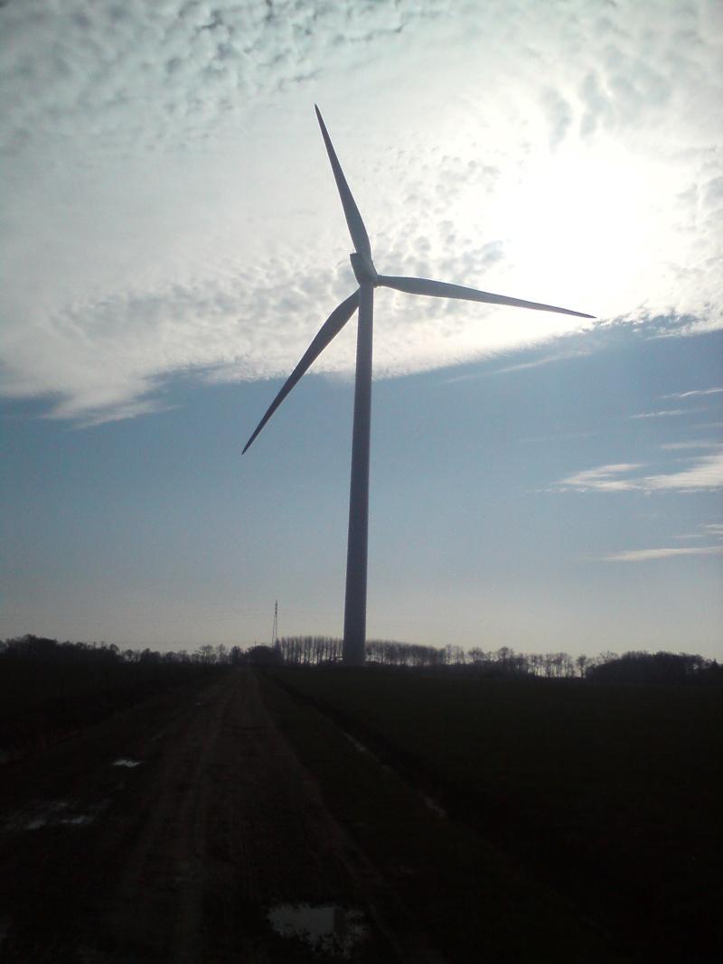 Au pied d'une éolienne 312