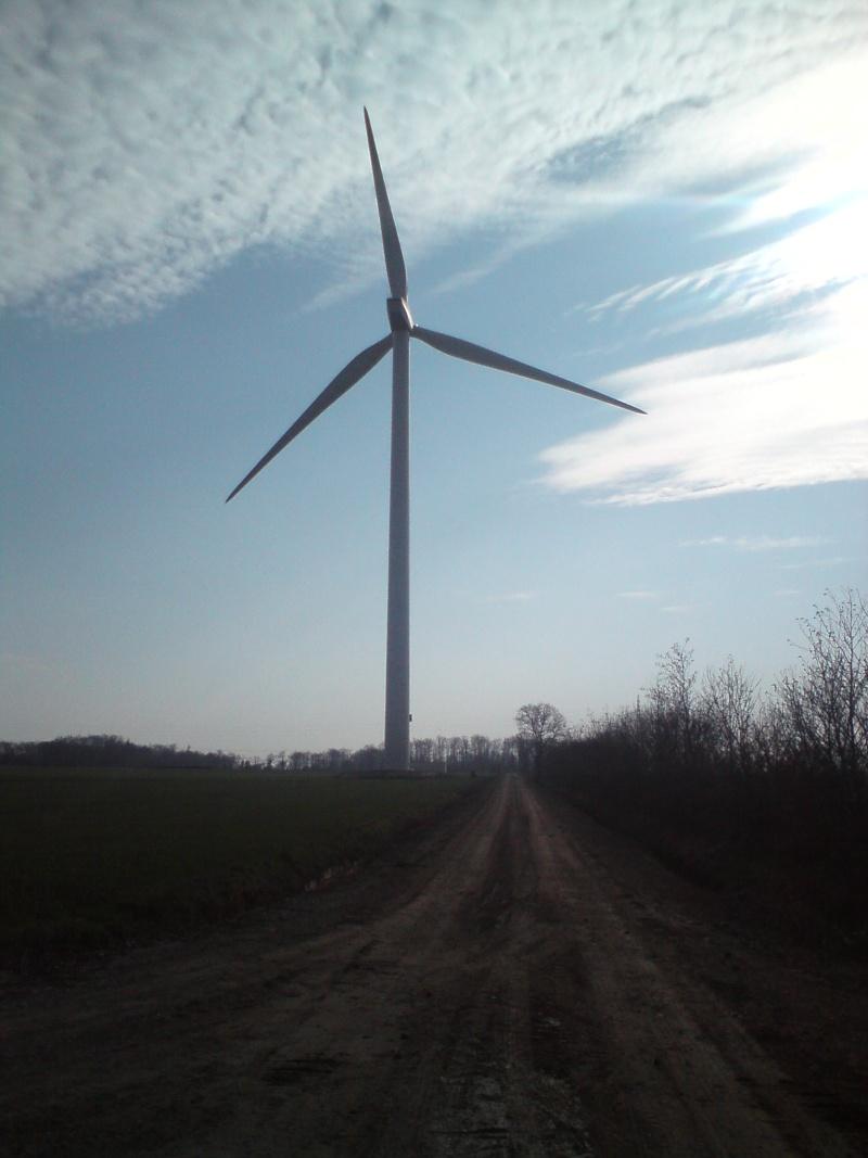 Au pied d'une éolienne 412