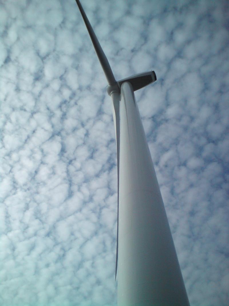 Au pied d'une éolienne 611