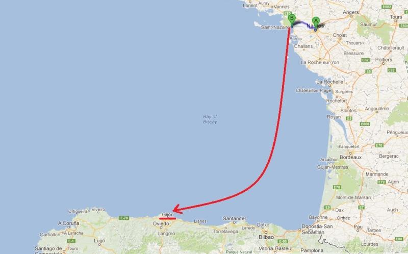 L'Espagne de Gijon à Jaca - du 1er au 8 Avril 2012 Trajet10