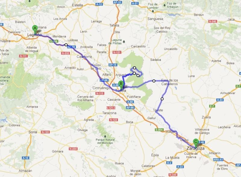 L'Espagne de Gijon à Jaca - du 1er au 8 Avril 2012 Trajet14