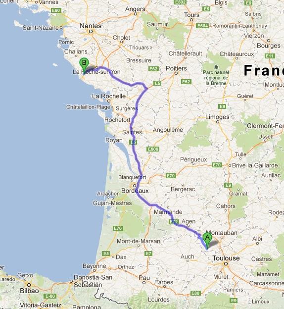 L'Espagne de Gijon à Jaca - du 1er au 8 Avril 2012 Trajet17
