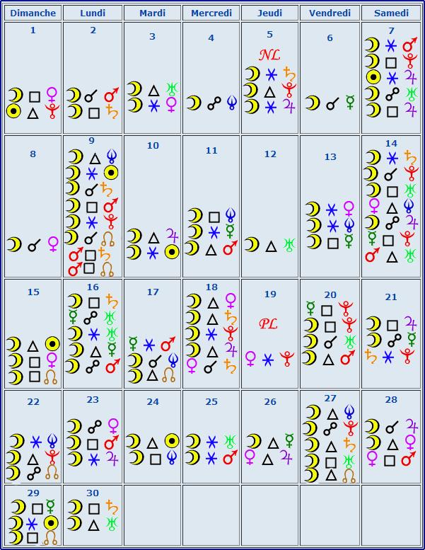 Calendrier aspect septembre Calend13