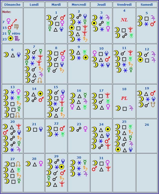 Calendrier aspect Octobre Calend15