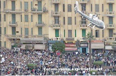 La manifestation menace le palais alkoba de Moubarak Egypt_10