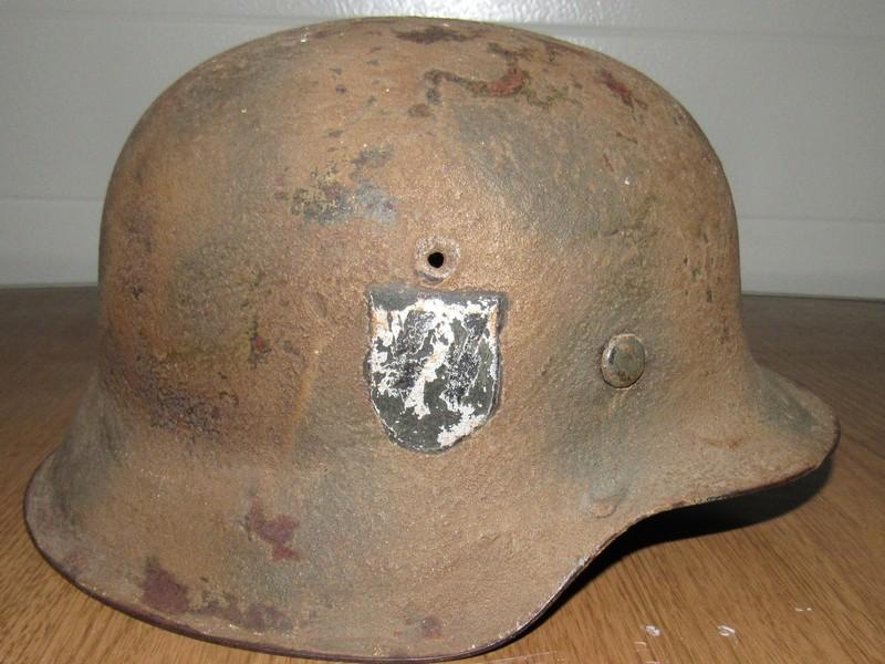 Demande d'authentification casque allemand WW2 00210