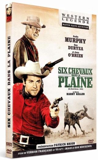 Six chevaux dans la plaine- Six black horses- 1962 - Harry Keller. 61pq0h11