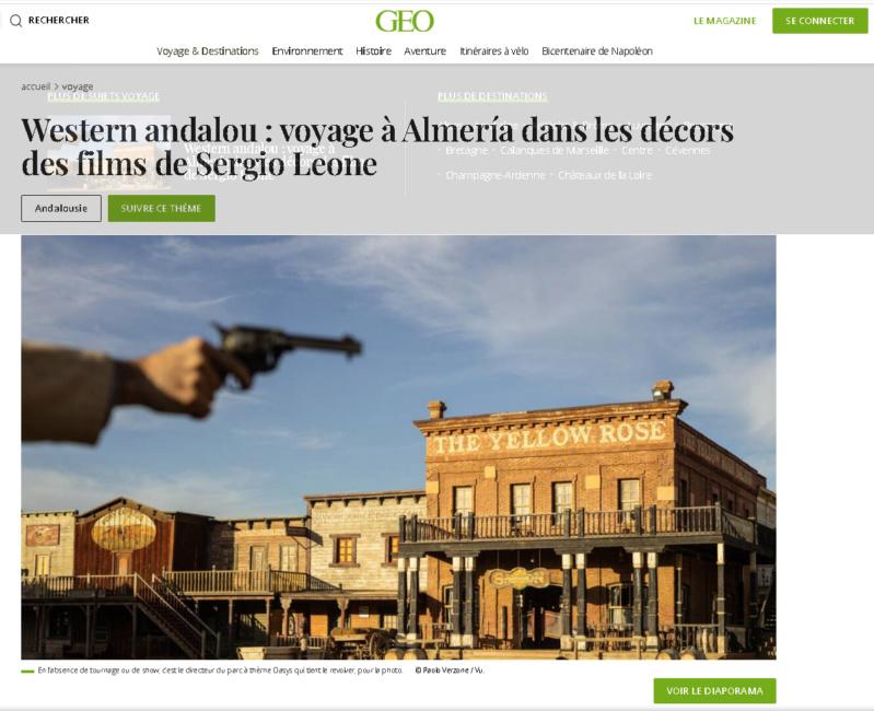 Magazine GEO: reportage sur Almeria Geo110