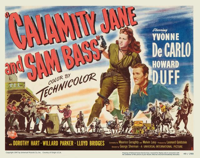 La fille des prairies - Calamity Jane and Sam Bass - 1949 - George Sherman Yvonne10