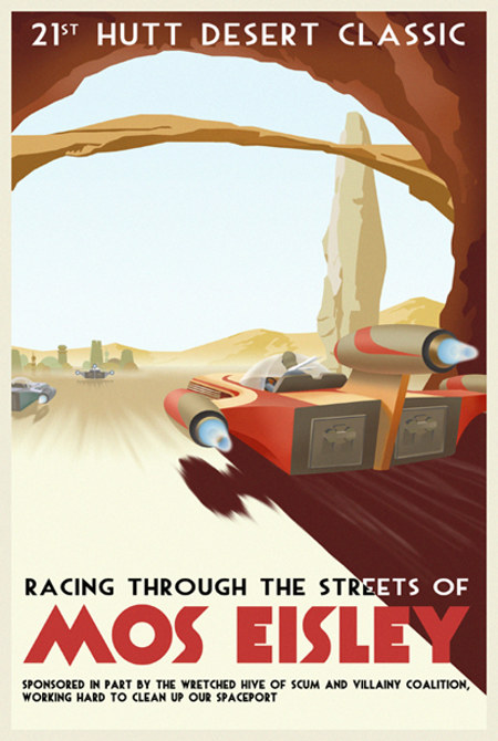 ACME - Steve Thomas - Star Wars Travel Posters  Star-w10