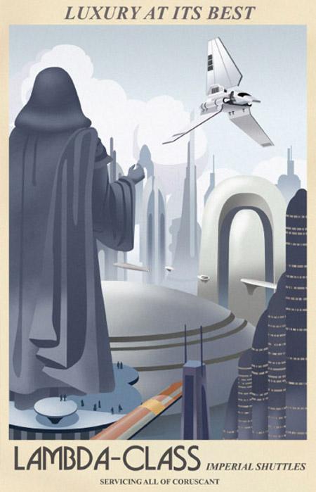 ACME - Steve Thomas - Star Wars Travel Posters  Star-w16
