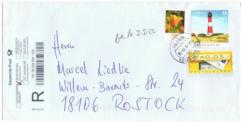 Reco-Aufkleber der Deutschen Post Brd_2410