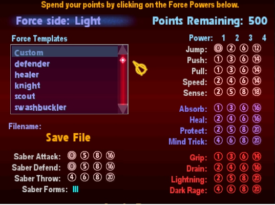 Forcemod III In-Game Force Point System Defaul11