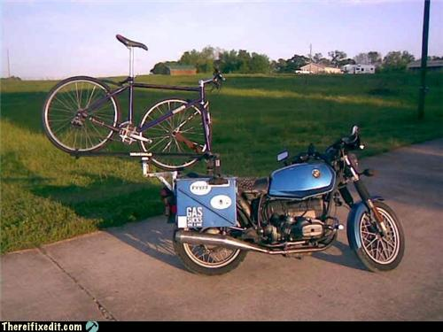 transport vtt sur moto. Porte-10