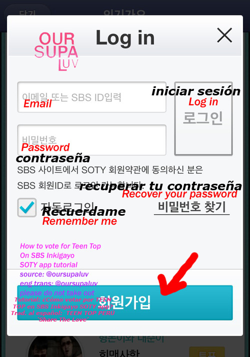 [TUTORIAL] Cómo votar por TEEN TOP en SBS Inkigayo (SOTY APP)  Tumblr13