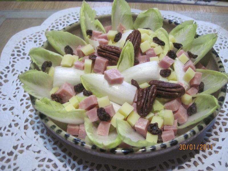 assiette d'endives  aux dés de jambon et gruyère Boeuf_11