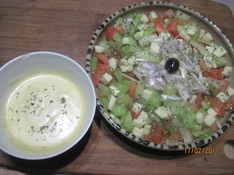 salade de crudités,céleri et tomates photos. Soupe_11
