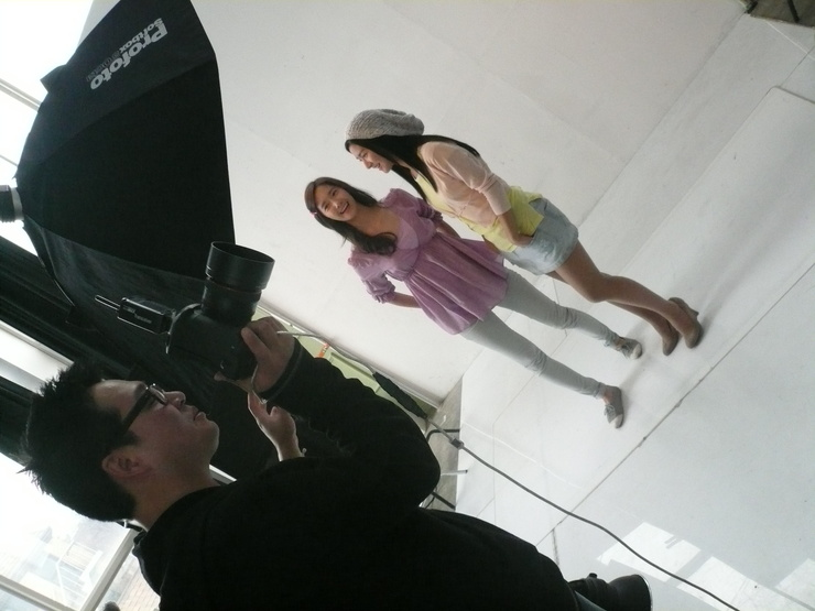 Kim So Eun and YoonA @ Clean n Clear CF Recording Pictures Yoong810