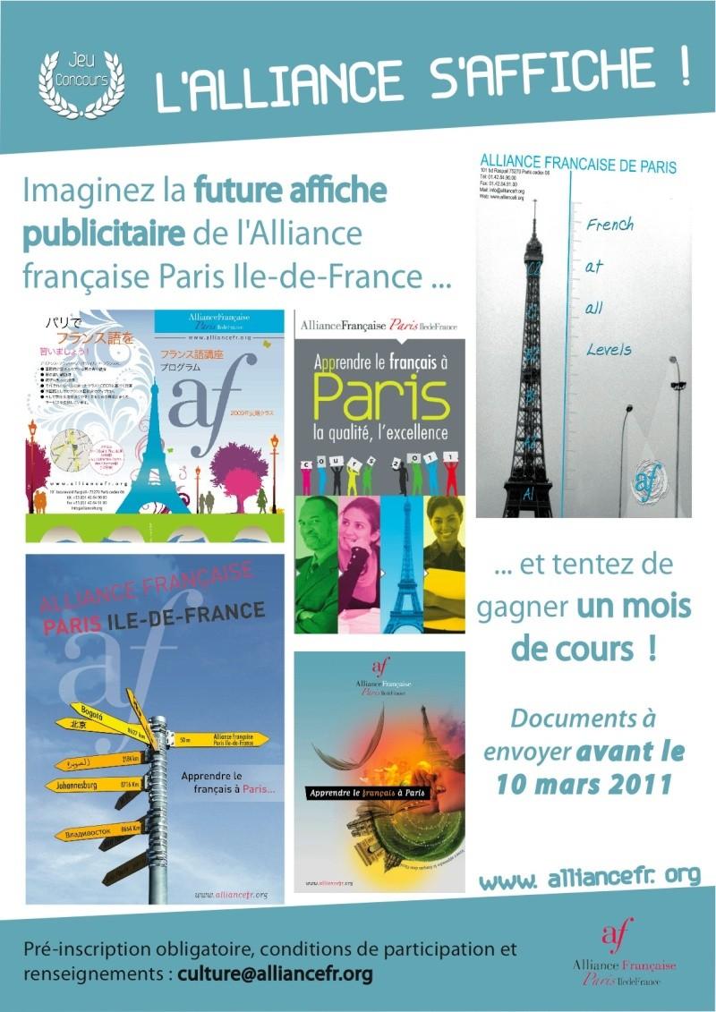 Un cours intensif d'un mois à l'AF Paris à gagner Concou10