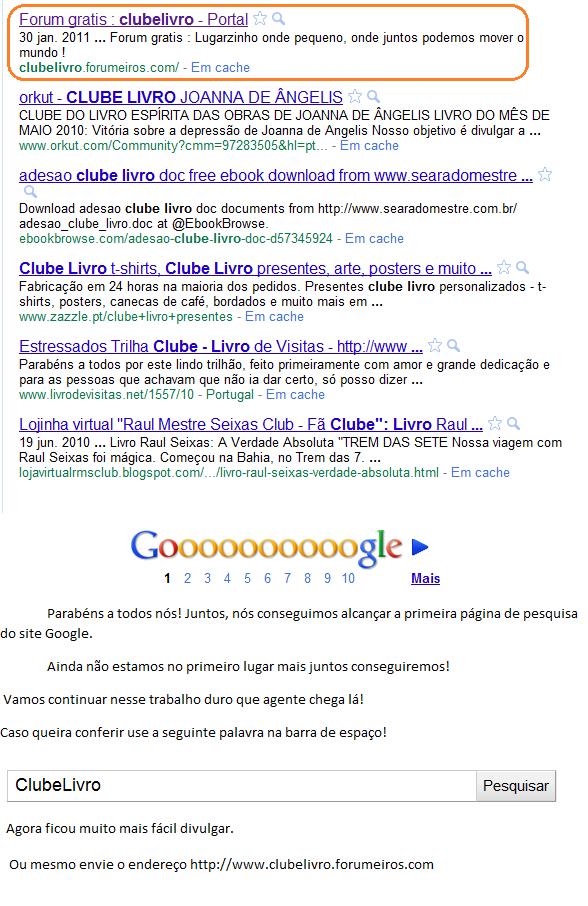 Buscas no google! Google10