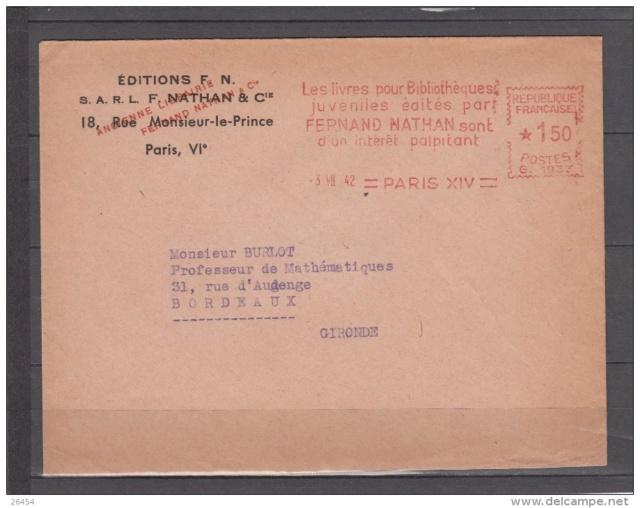 Edition Nathan : « Direction assurée par un Commissaire-Gérant aryen nommé par application de l'ordonnance allemande du 18 octobre 1940  »   168_0010