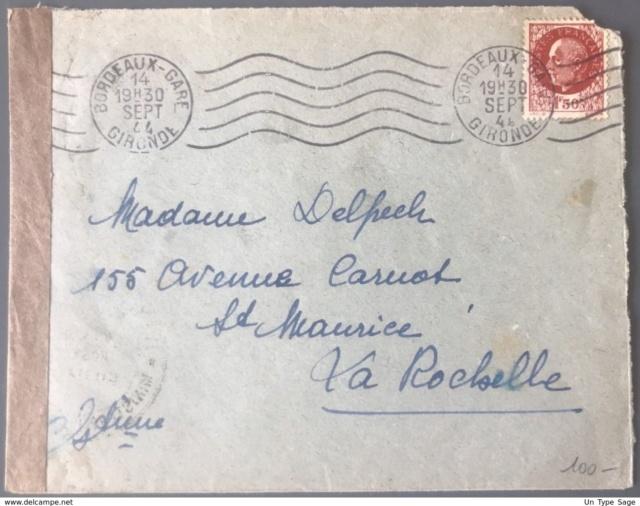 Censure postale de la IVe République en 1944 305_0011